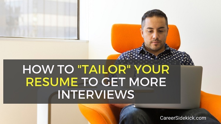how to tailor a resume to a job