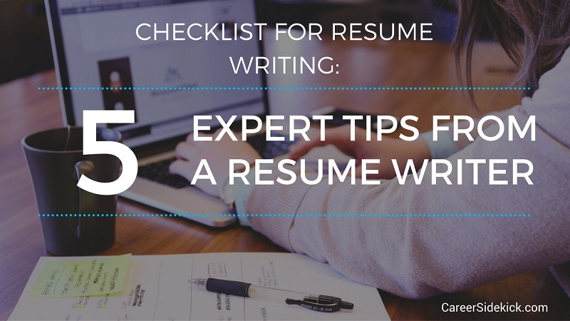 checklist for resume writing