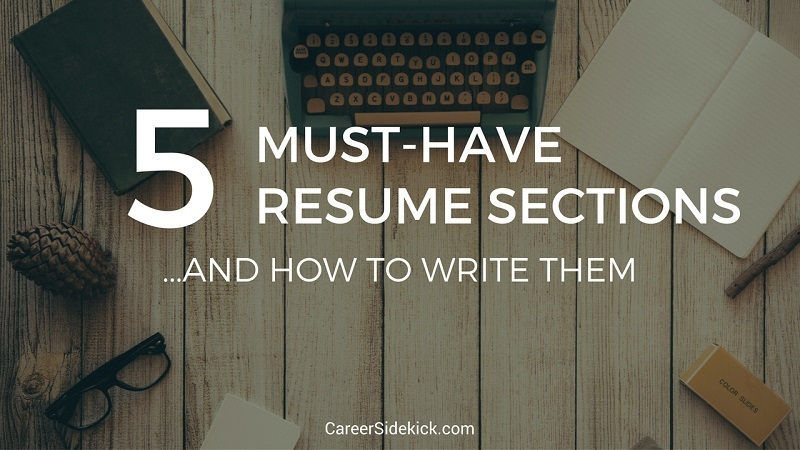 what to put on your resume sections
