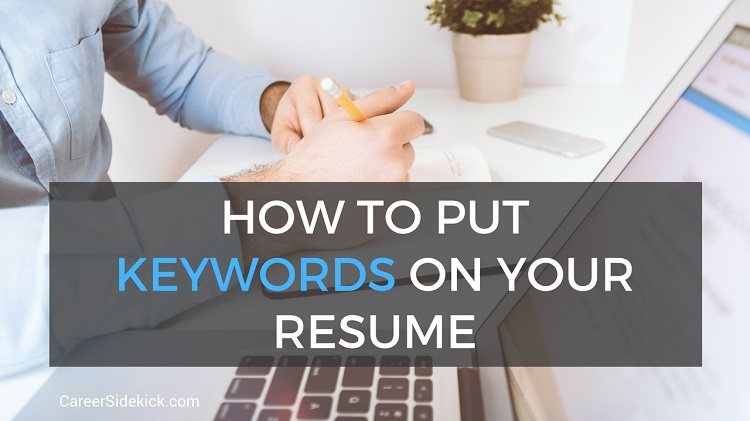 how to put keywords on your resume
