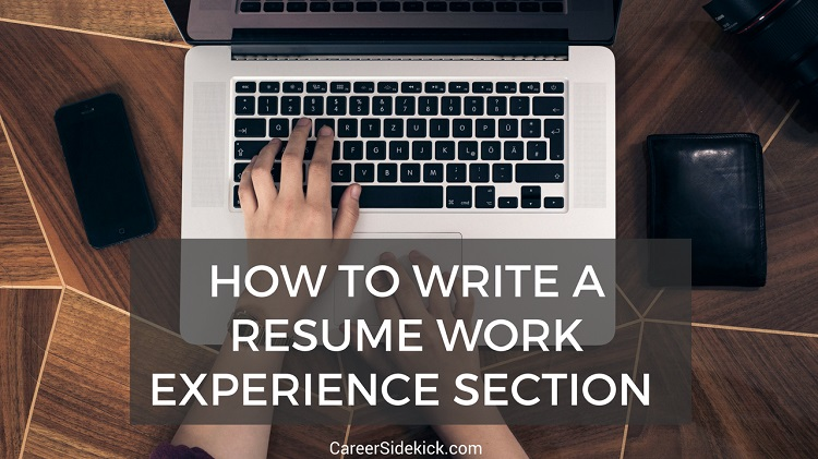 how to write resume work experience section