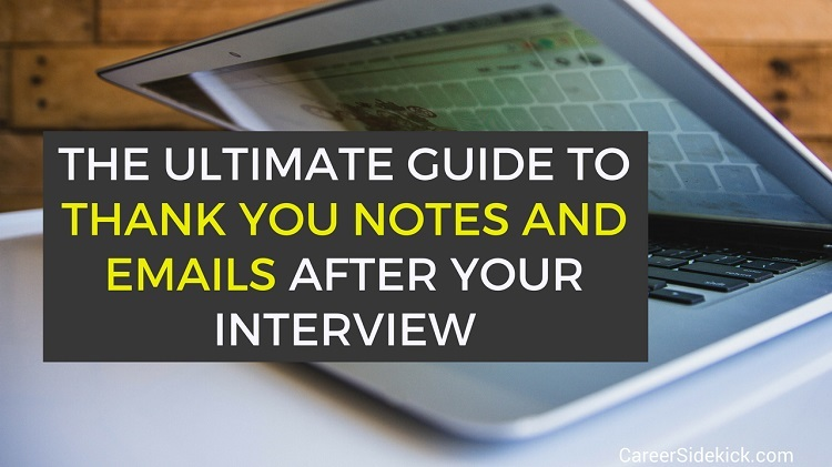 Example Thank You Notes After A Job Interview  Samples  Career