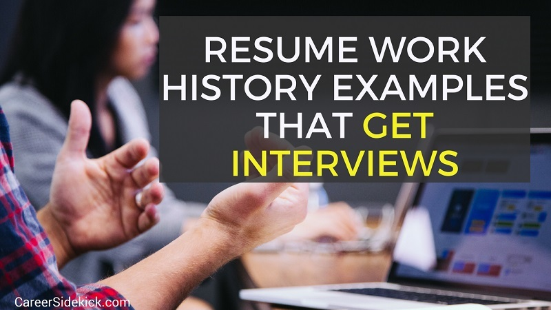 proven resume work history examples