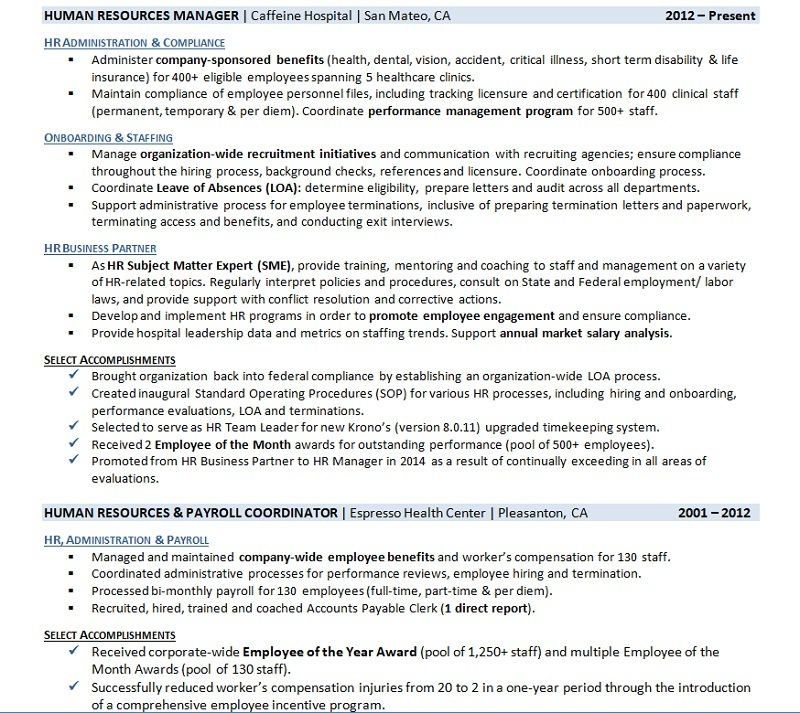 Resume Employment History Samples That Get Interviews Career Sidekick