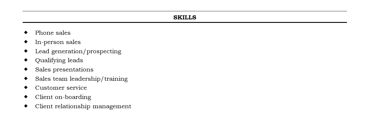 how to write a resume skills section  with examples