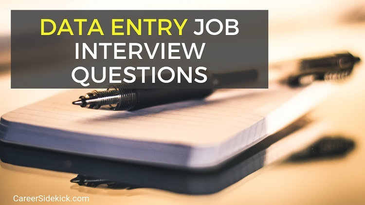 data entry job interview questions and answer examples