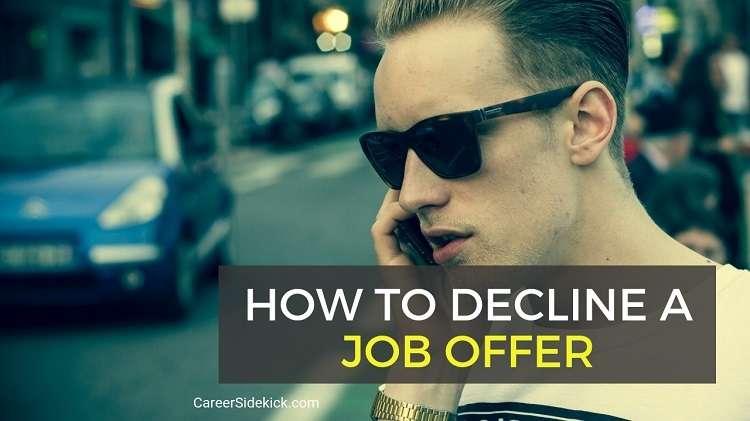 Letter Turning Down A Job Offer from careersidekick.com