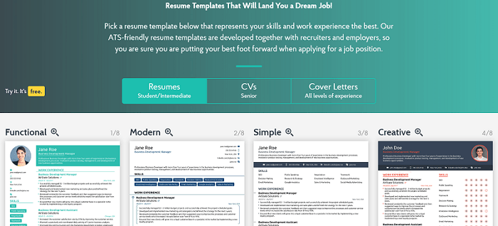 resume builder 2 - job search resources
