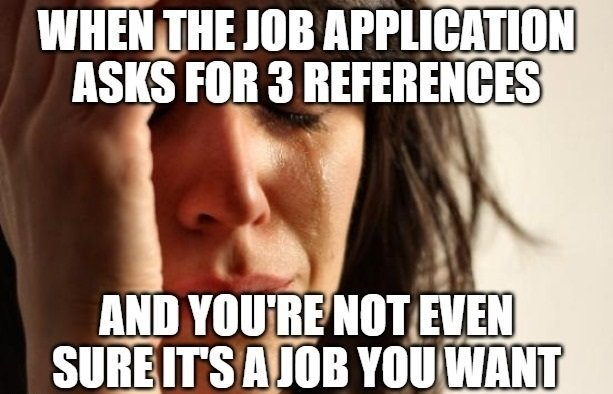 professional references - job application and resume