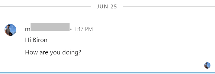 example of bad linkedin cold message