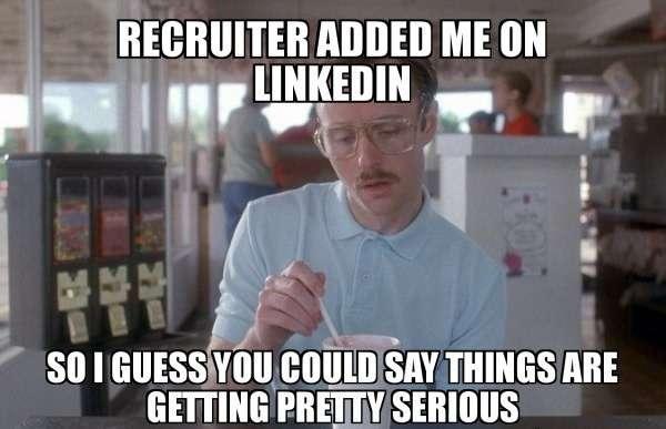 online job search tips - recruiter added me on linkedin