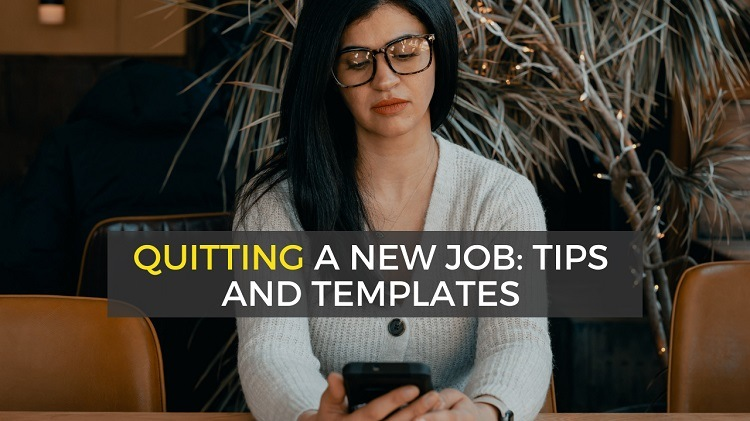 how to quit job you haven't started or just started