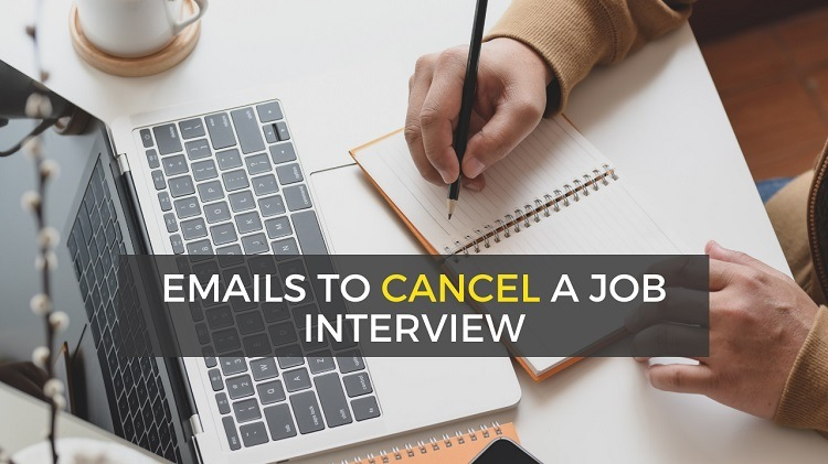how to cancel a job interview by email