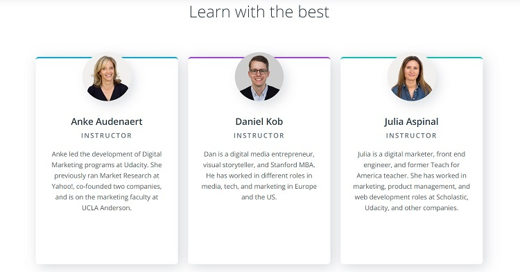Udacity review - instructors